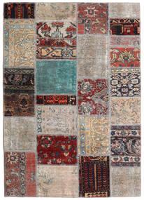Patchwork - Persien/Iran Tapis 141X198 Moderne Fait Main Gris Clair/Marron Foncé (Laine, Perse/Iran)