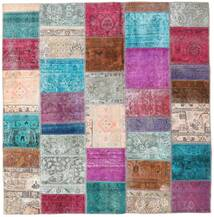 Patchwork - Persien/Iran Tapis 200X205 Moderne Fait Main Carré Gris Clair/Violet (Laine, Perse/Iran)