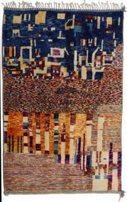 Berber Moroccan - Mid Atlas Tapis 167X267 Moderne Fait Main Beige/Beige Foncé (Laine, Maroc)