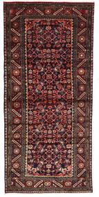 Hamadan Tapis 101X220 D'orient Fait Main Rouge Foncé/Gris Foncé (Laine, Perse/Iran)