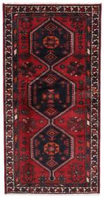 Hamadan Tapis 94X187 D'orient Fait Main Rouge Foncé (Laine, Perse/Iran)