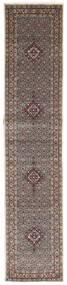Moud Tapis 82X393 D'orient Fait Main Tapis Couloir Gris Clair/Beige (Laine/Soie, Perse/Iran)