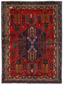 Afshar Tapis 162X224 D'orient Fait Main Rouge Foncé/Marron Foncé (Laine, Perse/Iran)