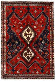 Afshar Tapis 159X233 D'orient Fait Main Rouge Foncé/Rouille/Rouge (Laine, Perse/Iran)