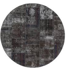Patchwork - Persien/Iran Tapis Ø 200 Moderne Fait Main Rond Noir/Marron (Laine, Perse/Iran)