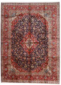 Kashan Tapis 296X400 D'orient Fait Main Rouge Foncé/Violet Foncé Grand (Laine, Perse/Iran)