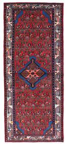 Hamadan Tapis 80X190 D'orient Fait Main Tapis Couloir Rouge Foncé/Noir (Laine, Perse/Iran)