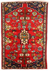 Hamadan Tapis 130X191 D'orient Fait Main Rouille/Rouge/Marron Foncé (Laine, Perse/Iran)