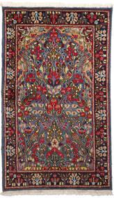 Kerman Tapis 90X153 D'orient Fait Main Rouge Foncé/Gris Foncé (Laine, Perse/Iran)