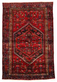 Zanjan Tapis 133X203 D'orient Fait Main Rouge Foncé/Marron Foncé/Rouille/Rouge (Laine, Perse/Iran)
