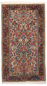 Kerman Tapis 86X153 D'orient Fait Main Marron Foncé/Rouge Foncé (Laine, Perse/Iran)