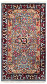 Kerman Tapis 90X155 D'orient Fait Main Rouge Foncé/Gris Clair (Laine, Perse/Iran)