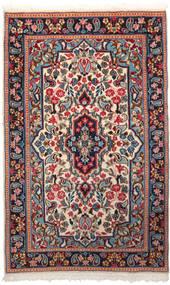 Kerman Tapis 90X150 D'orient Fait Main Rouge Foncé/Violet Foncé (Laine, Perse/Iran)