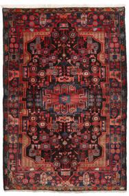 Nahavand Tapis 152X245 D'orient Fait Main Rouge Foncé/Noir (Laine, Perse/Iran)