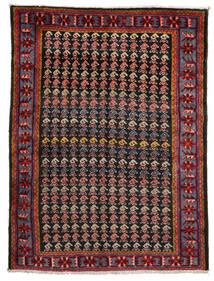 Afshar/Sirjan Tapis 153X202 D'orient Fait Main Rouge Foncé/Noir (Laine, Perse/Iran)