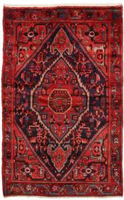 Zanjan Tapis 137X212 D'orient Fait Main Rouge Foncé/Rouille/Rouge (Laine, Perse/Iran)