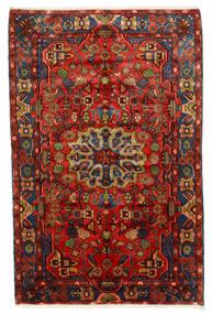 Nahavand Old Tapis 150X235 D'orient Fait Main Rouge Foncé/Marron Foncé (Laine, Perse/Iran)