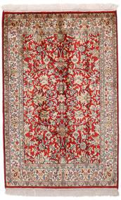 Cachemire Pure Soie Tapis 65X99 D'orient Fait Main Rouge Foncé/Gris Clair (Soie, Inde)