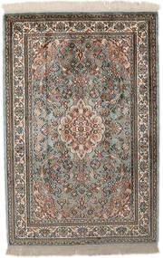 Cachemire Pure Soie Tapis 65X96 D'orient Fait Main Gris Clair/Gris Foncé (Soie, Inde)