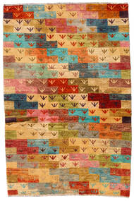 Moroccan Berber - Afghanistan Tapis 116X176 Moderne Fait Main Rouille/Rouge/Jaune (Laine, Afghanistan)