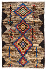 Moroccan Berber - Afghanistan Tapis 118X178 Moderne Fait Main Marron Foncé/Marron (Laine, Afghanistan)