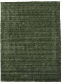 Handloom Gabba - Vert Forêt Tapis 210X290 Moderne Vert Foncé (Laine, Inde)