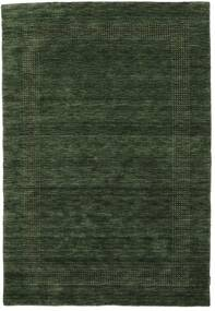 Handloom Gabba - Vert Forêt Tapis 160X230 Moderne Vert Foncé (Laine, Inde)