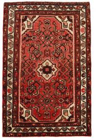 Hosseinabad Tapis 73X112 D'orient Fait Main Marron Foncé/Rouge Foncé (Laine, Perse/Iran)