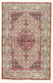 Moud Tapis 96X194 D'orient Fait Main Marron/Beige Foncé (Laine/Soie, Perse/Iran)