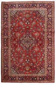 Kashan Tapis 132X203 D'orient Fait Main Rouge Foncé/Marron Foncé (Laine, Perse/Iran)