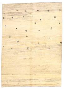 Gabbeh Persan Tapis 169X236 Moderne Fait Main Beige/Jaune (Laine, Perse/Iran)