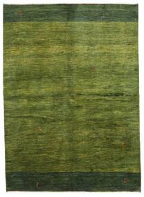 Gabbeh Persan Tapis 165X230 Moderne Fait Main Vert Foncé/Vert Olive (Laine, Perse/Iran)