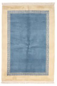 Chinois 90 Line Tapis 137X198 D'orient Fait Main Bleu Clair/Beige (Laine, Chine)