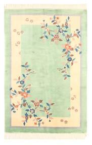 Chinois Finition Antique Tapis 120X180 D'orient Fait Main Vert Pastel/Jaune (Laine, Chine)