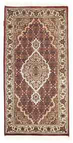 Tabriz Royal Tapis 70X140 D'orient Fait Main Marron Foncé/Marron Clair/Blanc/Crème ( Inde)