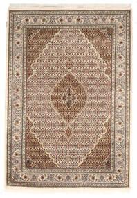 Tabriz Royal Tapis 142X205 D'orient Fait Main Marron Foncé/Beige ( Inde)
