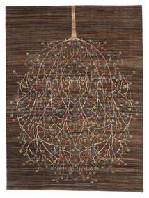 Gabbeh Loribaft Tapis 170X227 Moderne Fait Main Marron Foncé/Marron (Laine, Inde)