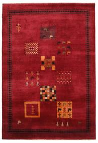 Gabbeh Loribaft Tapis 155X225 Moderne Fait Main Rouge Foncé/Noir (Laine, Inde)