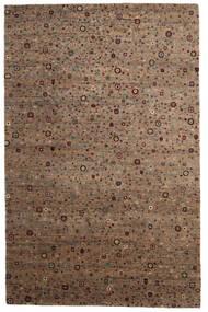 Gabbeh Loribaft Tapis 198X305 Moderne Fait Main Marron/Gris Clair (Laine, Inde)