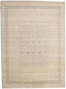 Gabbeh Loribaft Tapis 196X266 Moderne Fait Main Gris Clair/Beige (Laine, Inde)