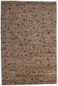 Gabbeh Loribaft Tapis 203X302 Moderne Fait Main Marron/Gris Clair (Laine, Inde)