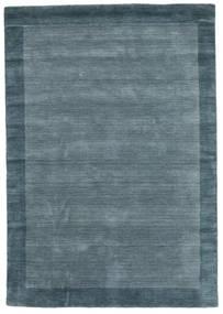 Handloom Frame - Petrol Bleu Tapis 160X230 Moderne Bleu (Laine, Inde)
