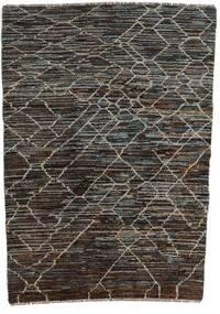 Moroccan Berber - Afghanistan Tapis 124X170 Moderne Fait Main Gris Foncé/Noir (Laine, Afghanistan)