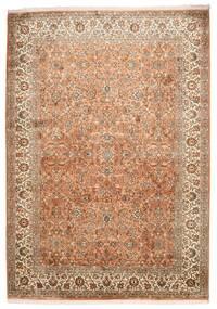Cachemire Pure Soie Tapis 173X244 D'orient Fait Main Marron/Marron Clair (Soie, Inde)