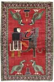 Ghashghaï Tapis 124X195 D'orient Fait Main Rouge/Gris Foncé (Laine, Perse/Iran)