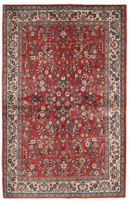 Sarough Tapis 132X206 D'orient Fait Main Rouge Foncé/Beige (Laine, Perse/Iran)