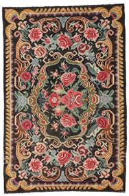 Kilim Rose Moldavia Tapis 191X285 D'orient Tissé À La Main Noir/Gris Foncé (Laine, Moldavie)