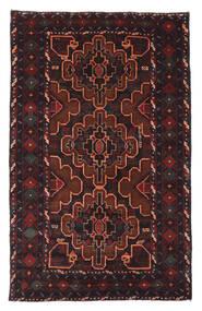 Baloutche Tapis 120X193 D'orient Fait Main Noir/Rouge Foncé (Laine, Afghanistan)