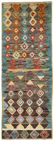 Moroccan Berber - Afghanistan Tapis 72X195 Moderne Fait Main Tapis Couloir Gris Foncé/Rouge Foncé (Laine, Afghanistan)