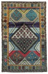 Moroccan Berber - Afghanistan Tapis 111X169 Moderne Fait Main Noir/Gris Foncé (Laine, Afghanistan)